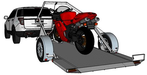 plans for drop deck motorcycle ground loading r free trailer plans