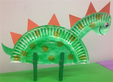Paper Dinosaur Craft - crafts narrating tales of preschool storytime