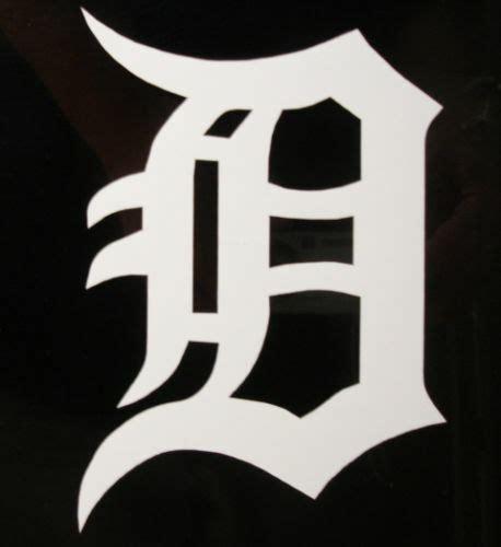 detroit  vinyl decal sticker  english  tigers ebay