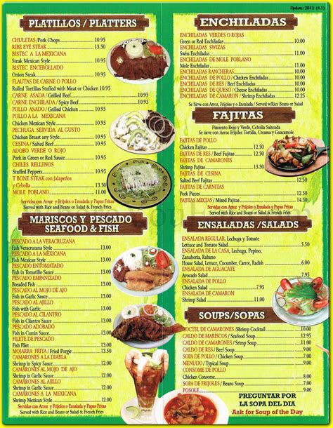 menu cuisine puebla restaurant in dyker heights
