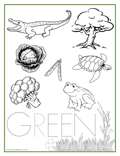 color sheets the color green coloring pages az coloring pages