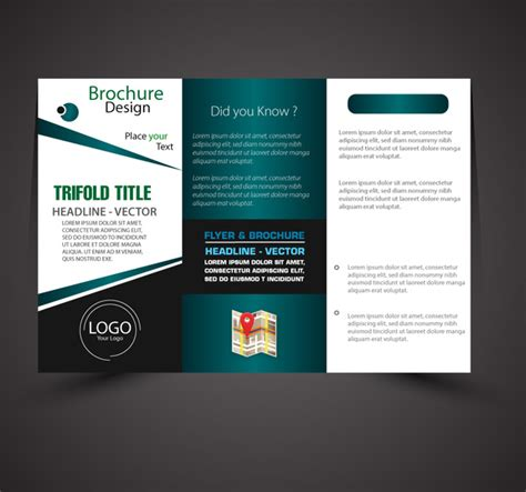 business brochure design with modern trifold style free