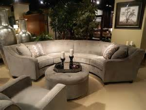 circular sectional sofa new gray silver round sectional