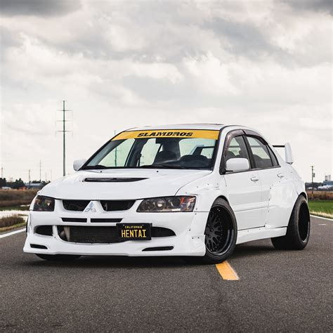 mitsubishi evo 7 stock mitsubishi evolution widebody kit by clinched fits evo7