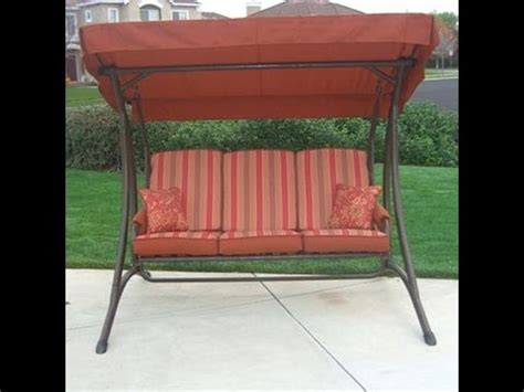 replacement canopy and cushions for patio swings osh patio swing cushions seat support and canopy fabric