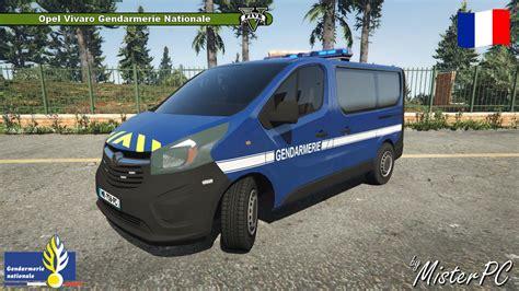 mod gta 5 voiture opel vivaro gendarmerie nationale vehicules pour gta v