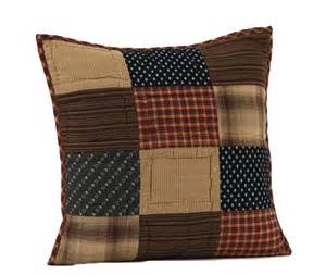 patriotic patch 16 quot quilted decorative throw pillow cover