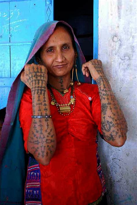 tribal tattoos indian india quot kachchhi rabari tattoos quot 169 kantilal doobal