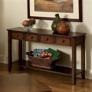 Accent Table Decor Standard Furniture Hialeah Court Sofa Table In Rich Cherry Craftsman Side Tables And End