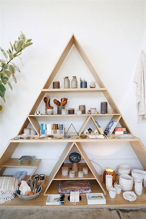 bedroom decor shops triangle shelving general store restaurant retail