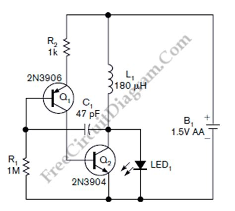two transistors single cell battery led driver circuit diagram world