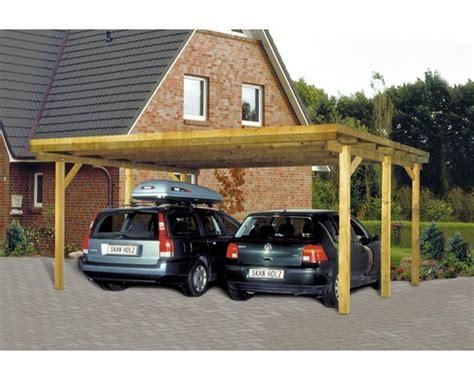 carport holz bauhaus doppelcarport skan holz flachdach 520x500 cm