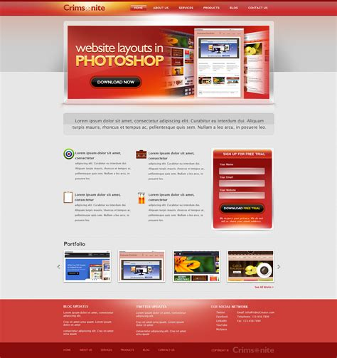 Template Psd corporate website psd template graphicsfuel