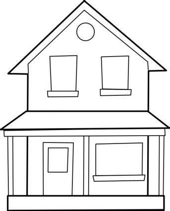 houses drawings house line art cliparts co