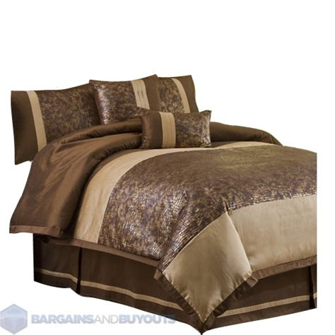 Brown And Gold Comforter by Lush Decor Metallic Animal Six Comforter Set In