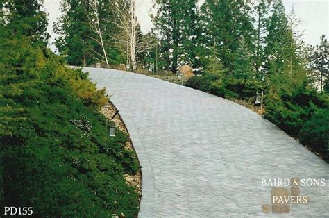 awesome downhill driveway this was a large project but the homeowner liked the pavers a lot