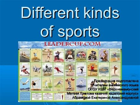 different kinds of different kinds of sports