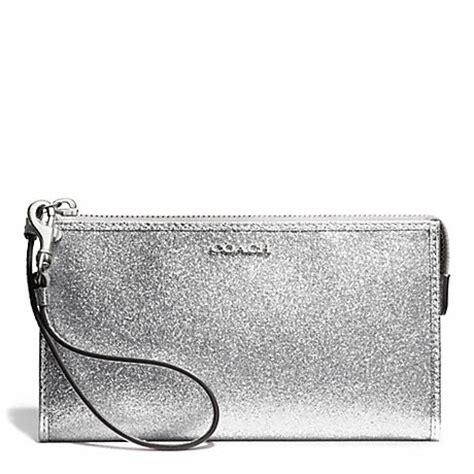 Silver Wallet coach f50711 49 glitter zippy wallet silver silver