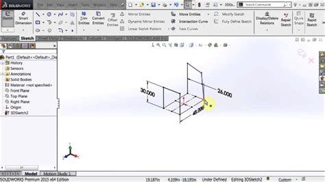 sketch pattern along curve solidworks solidworks 3d sketch basics youtube