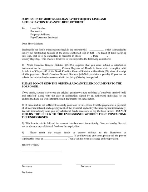 Loan Statement Letter Format 9 best images of sle loan payoff letter form loan