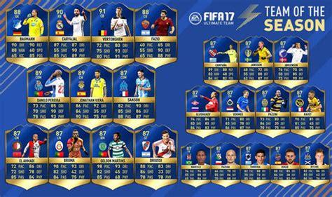 Bd Ps4 Fifa 17 Ultimate Team Second fifa 17 tots ps4 xbox web app team of the season