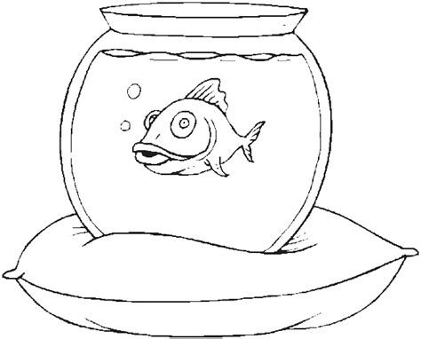 coloring page fish bowl free coloring pages of fishbowl