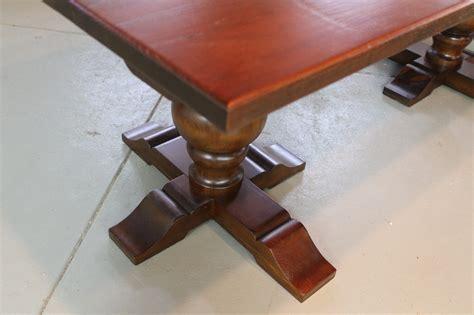 farm table with tuscany pedestal ecustomfinishes