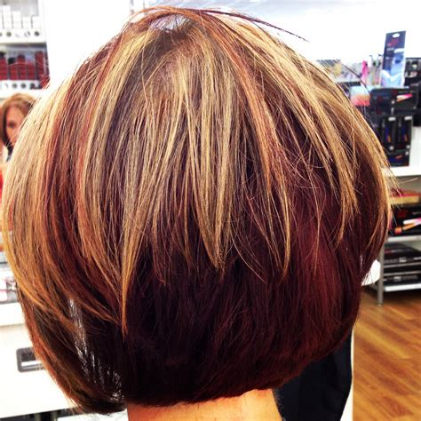 short haircut with red tint and highlights short hairstyles with blonde and red highlights hair red