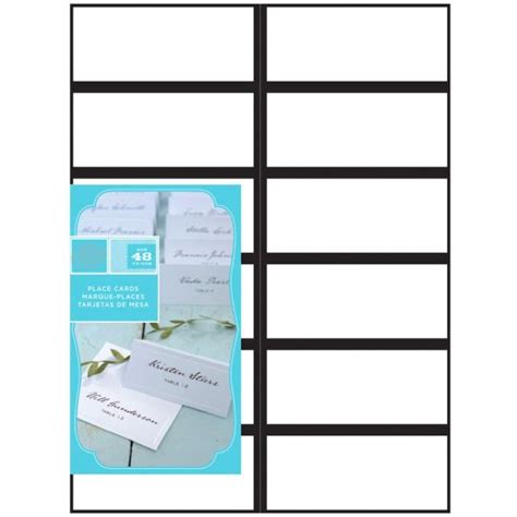 place card template gartner gartner 174 studios black border place cards