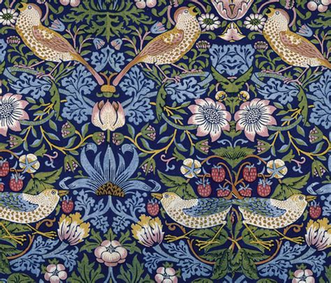 Morris Custom Upholstery by William Morris Strawberry Thief Fabric Neilepi Spoonflower