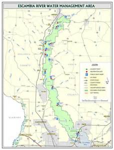 where is river florida on a map escambia river northwest florida water management district