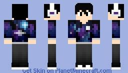 Minecraft Sty Papercraft - resty the galaxy boy minecraft skin