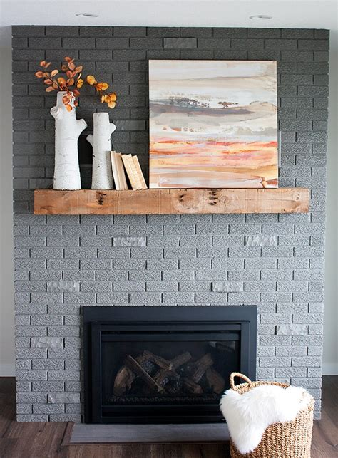 painted brick fireplace makeover how 70s fixer brick fireplace makeover before and