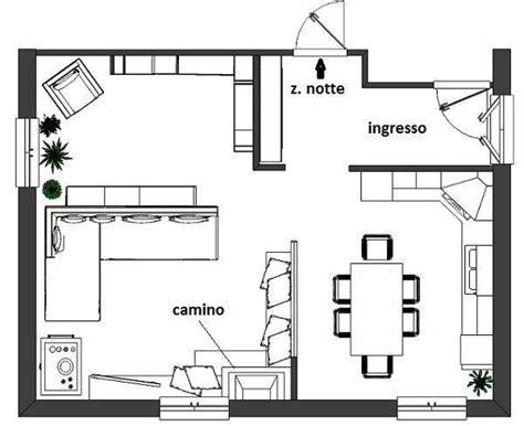 progettare camino camino tra soggiorno e cucina