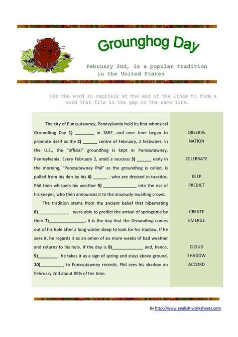 groundhog day lessons groundhog day worksheet our homeschool holidays
