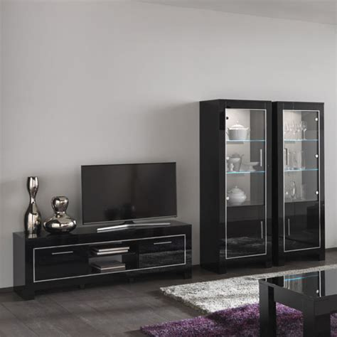 glass display units for living room lorenz glass display cabinet in black high gloss with led black display units for living room