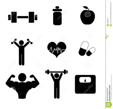 imagenes de fitness gratis iconos del gimnasio ilustraci 243 n del vector imagen 43808618