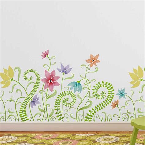 stencil fiori per pareti stencil muro come personalizzare con stile e fantasia le