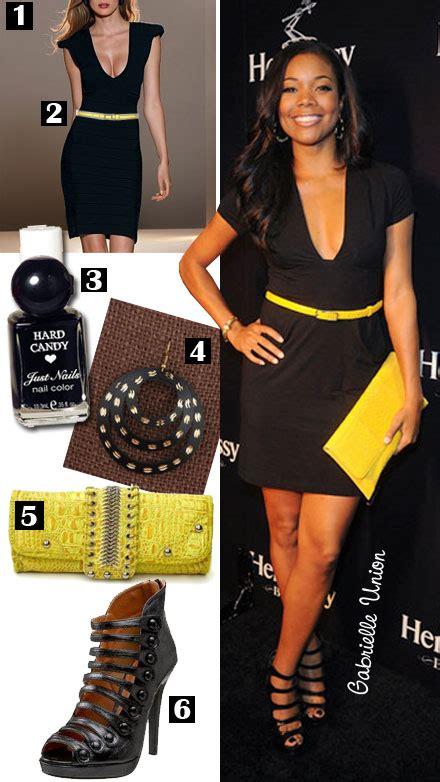 Jual Jaket Gabrielle black dress and yellow accessories dress uk