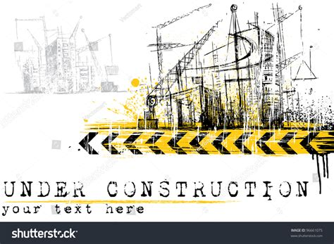 clipart site illustration construction site building stock vector