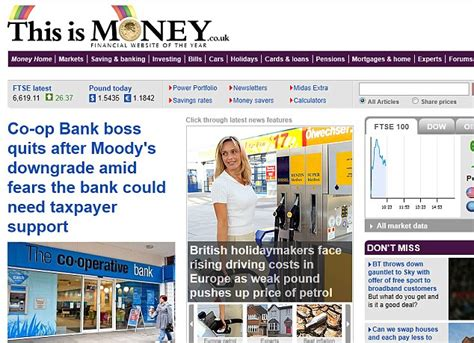 daily mail finance section this is money named financial website of the year at 2013