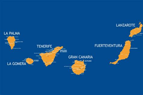 canary islands map the canary islands luxury holidays tourist destinations