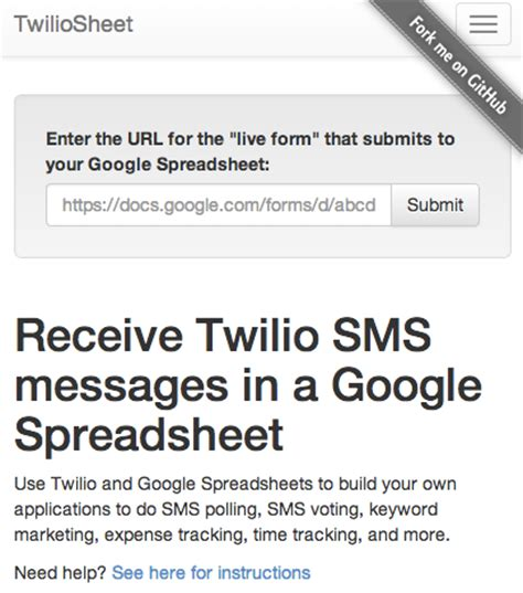 Sms How To Send Underlined Message Twilio Api Stack - route sms messages to spreadsheets via twilio api