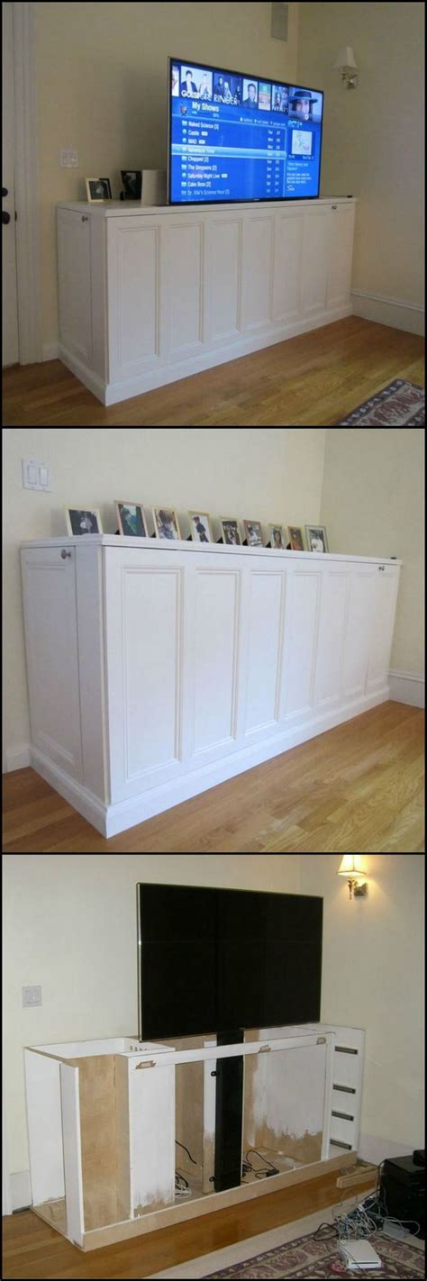 diy tv lift cabinet diy tv cabinet lift woodworking projects plans