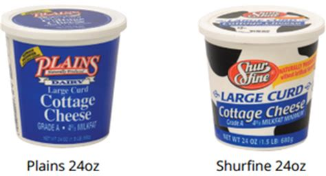 lactose free cottage cheese brands large curd cottage cheese plains dairyplains dairy