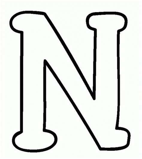 Letter N letter n coloring sheets free alphabet coloring pages