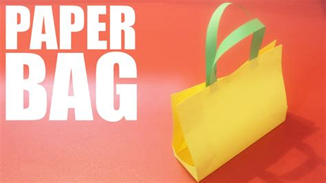 How To Make A Paper Bag From A4 Paper - how to make a paper bag with a4 paper diy paper bag