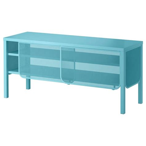 Turquoise Media Cabinet by 365 Glass Clear Glass Sliding Doors The Doors