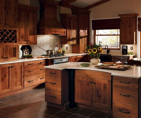 rustic hickory kitchen cabinets solid wood kitchen