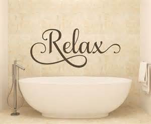 Bath Wall Decor by Bathroom Wall Relax Wall Decals Wall Decals By